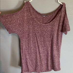 purple and white fall top!